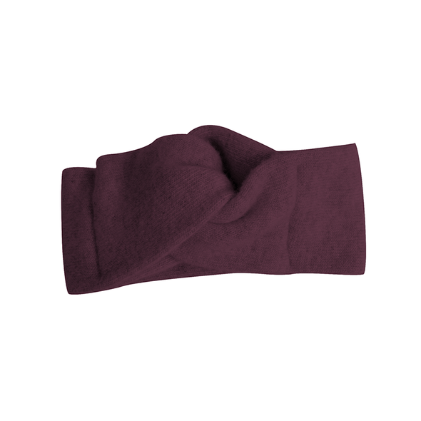Poppys Collection and Collegien Grape Super Soft Cashmere and Wool Headband