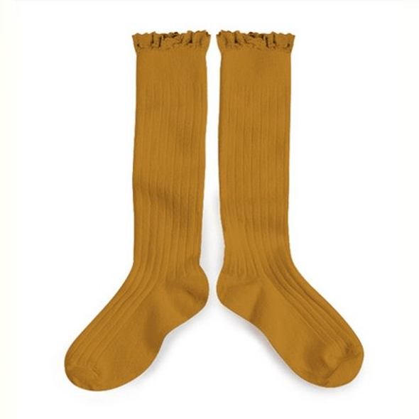 Poppys Collection and Collegien Cute Softest Dijon Mustard Josephine Socks