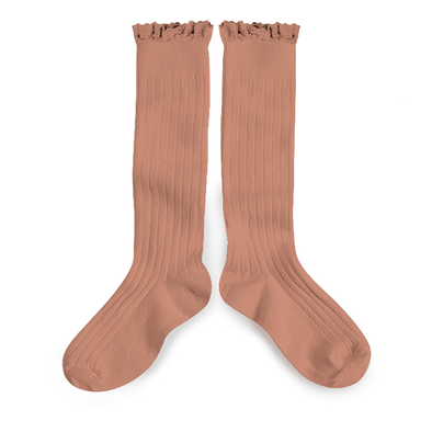 Poppys Collection and Collegien Cute Softest Pale Rose Josephine Socks