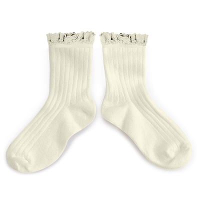Poppys Collection Cutest White Lili Socks for Babies and Kids with Lace