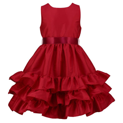 Arabelle Red Taffeta Dress