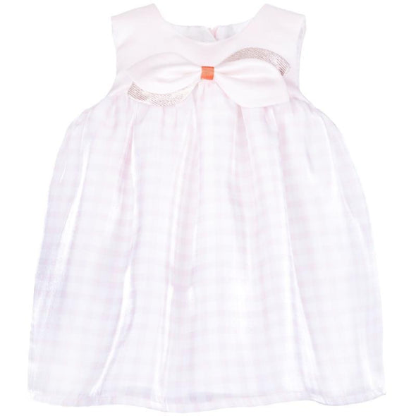 Checked Organza Trapeze Dress and Bloomer Set