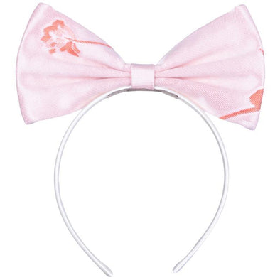 Pink Jacquard Bow Hairband