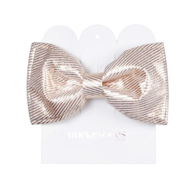 Lame Gold Double Bow Hair Clip