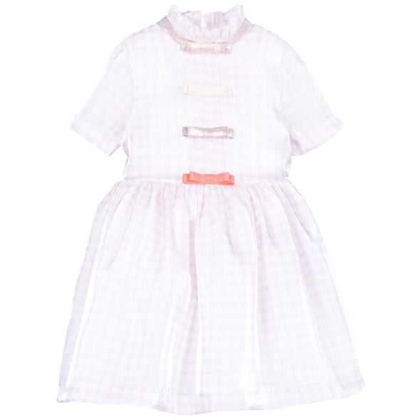Rose and Cloud Adorable Bodice Dress for a Little Girl