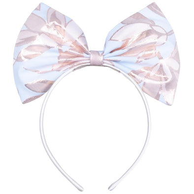 Powder Blue & Rose Gold Giant Bow Hairband