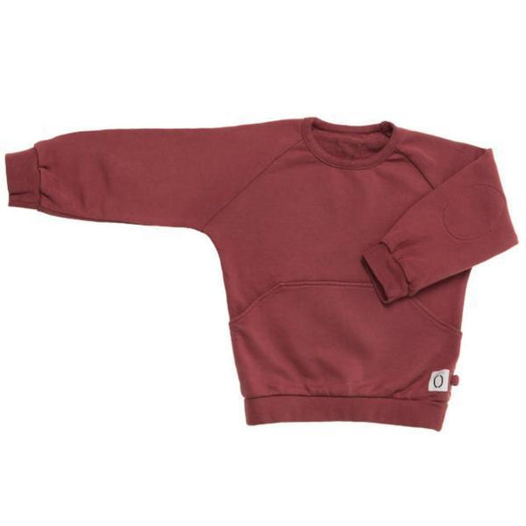 Kids Unisex Burgundy Sweatshirt
