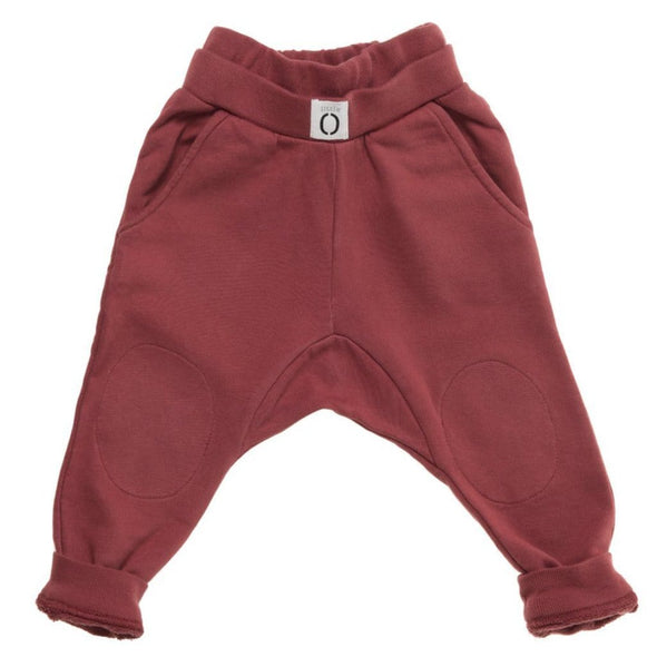 Kids Unisex Burgundy Sweatpants