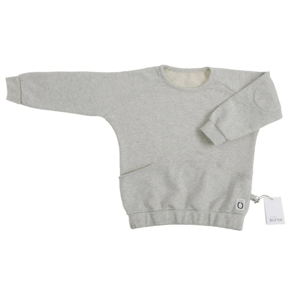 Kids Unisex Natural Marl Sweatshirt