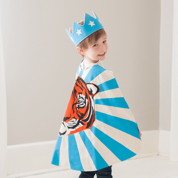 Poppys Collection Halloween Cute Prince King Blue Crown with Stars