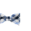 Baby, Toddler & Youth Light Blue Plaid Bow Tie and Camel Leather Suspenders Set