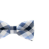 Baby, Toddler & Youth Light Blue Plaid Bow Tie and Navy Leather Suspenders Set