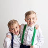 Baby, Toddler & Youth Light Easter Egg Bow Tie and Navy Leather Suspenders Set