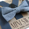 Baby, Toddler & Youth Bow Tie and Suspenders Solid Gray Set