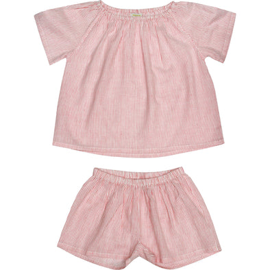 Pink Tea Stripes Summer Pyjama