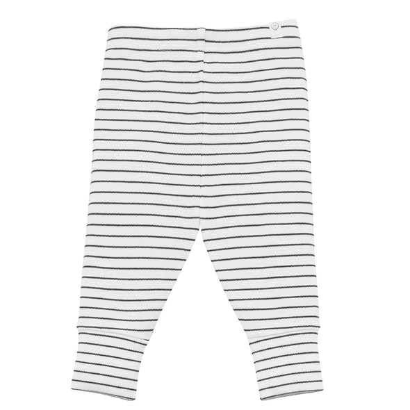 Grey and white striped super soft casual comfy leggings for babies and kids