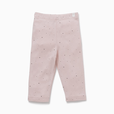 Pink with grey dots super soft casual comfy leggings for babies and kids