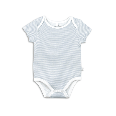 Baby Blue Stripe Short Sleeve Bodysuit