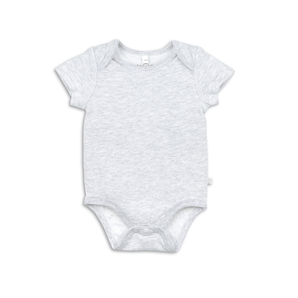 Baby Grey Short Sleeve Bodysuit