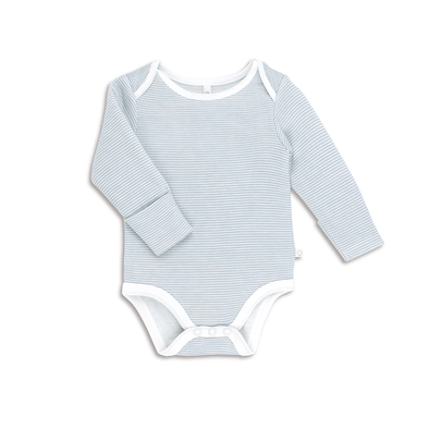 Baby Blue Stripe Long Sleeve Bodysuit