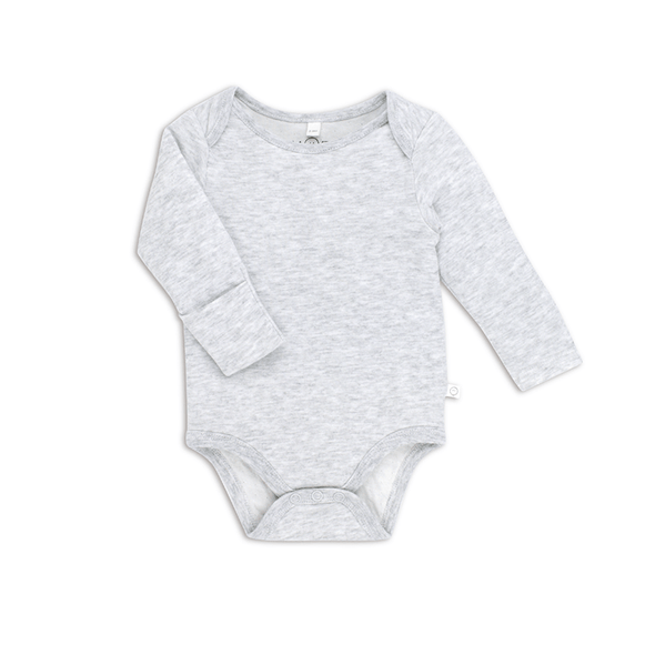 Baby Grey Long Sleeve Bodysuit