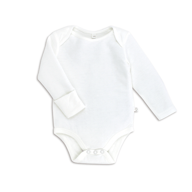 Baby White Long Sleeve Bodysuit
