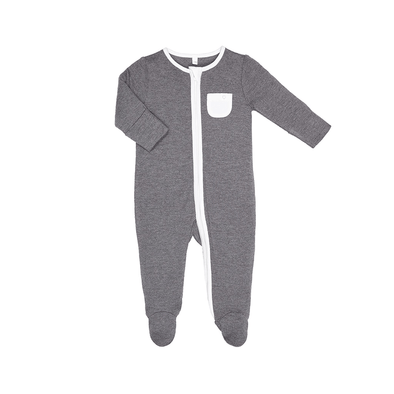Baby Lunar Organic Zip-Up Sleepsuit