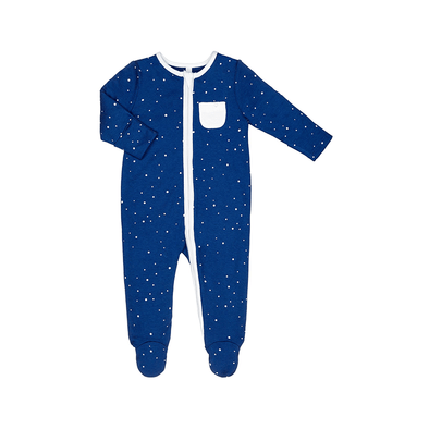 Baby Night Sky Organic Zip-Up Sleepsuit