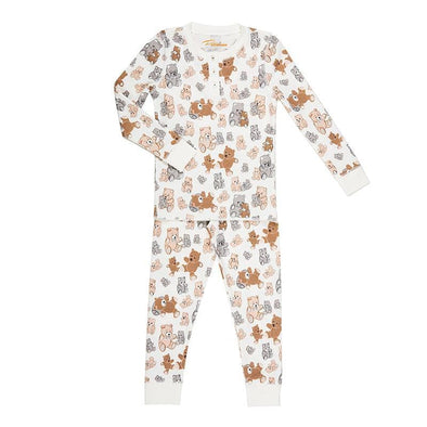 Kids teddy bear vintage print cute softest PJs