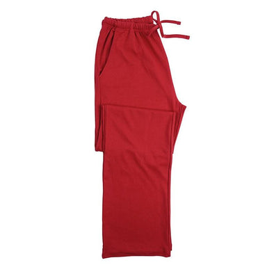 Perfect Christmas solid red valentine men pyjama trousers