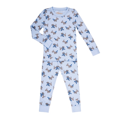 Puppies in Blue Hats Kids PJs