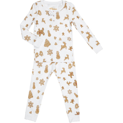 Cute christmas ginger cookies kids pyjama set