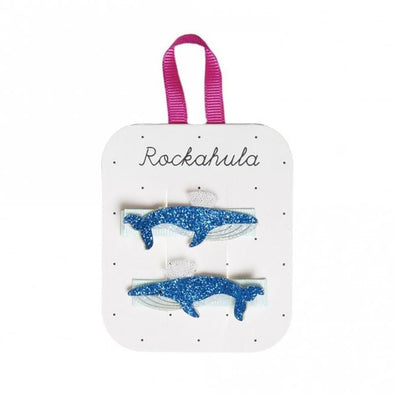 Blue Whale Glitter Clips