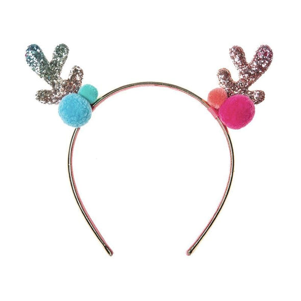 Rainbow Reindeer Headband