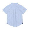 Blue Llama Embroid Boys Woven Top