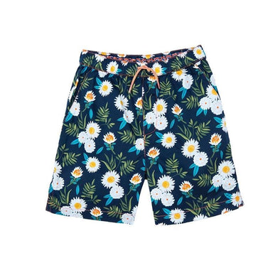 Botanical Print Boys Woven Shorts