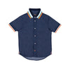 Dark Denim Boys Woven Top