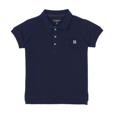 Navy Cotton Boys Knit Jersey Top