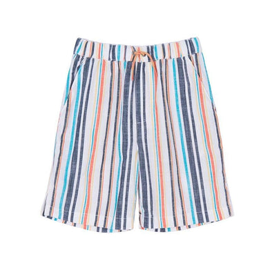Slubbed Multi Stripe Boys Woven Shorts