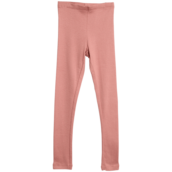 Girls Soft Rouge Rib Leggings
