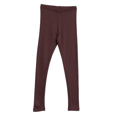 Girls Soft Eggplant Rib Leggings