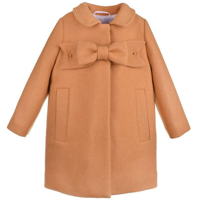 Heavy Wool Cinnamon Bow Coat