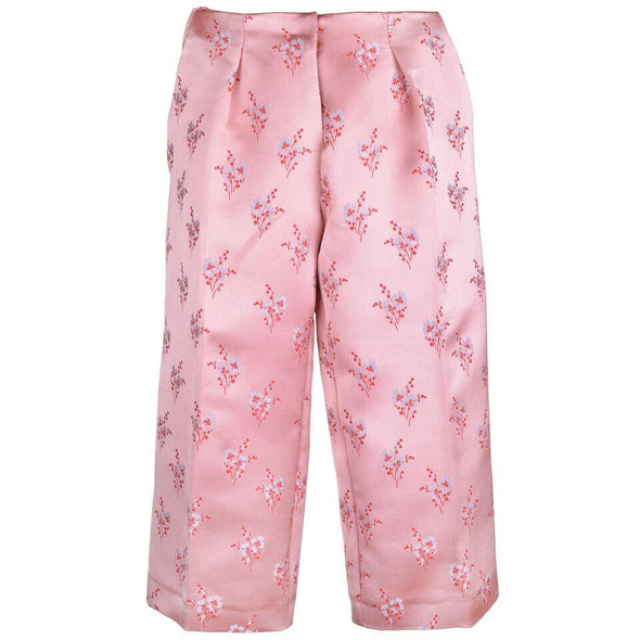 Snowberry Satin Jacquard Cropped Trousers