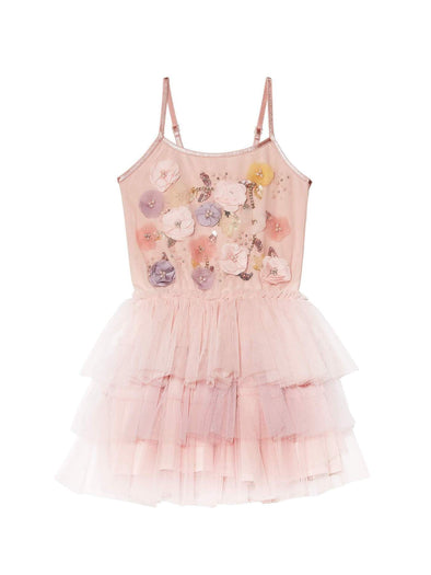 Cutest Pink Floral Valentine's Baby Tutu Dress