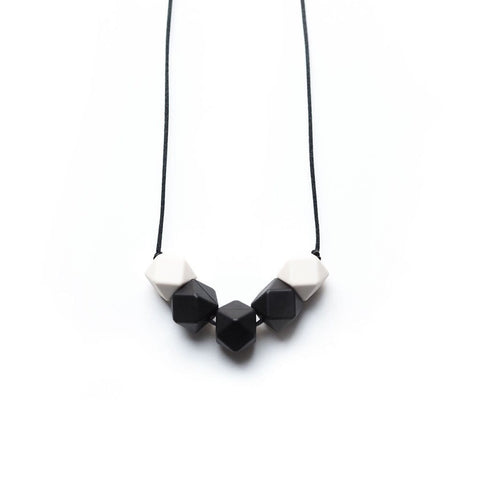 Black & Cream Teething Necklace