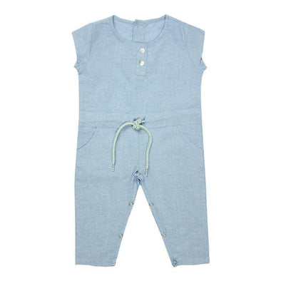 Sky Blue Chambray Jumpsuit