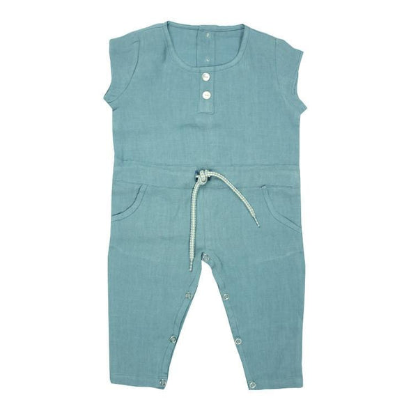Horizon Blue Linen Jumpsuit