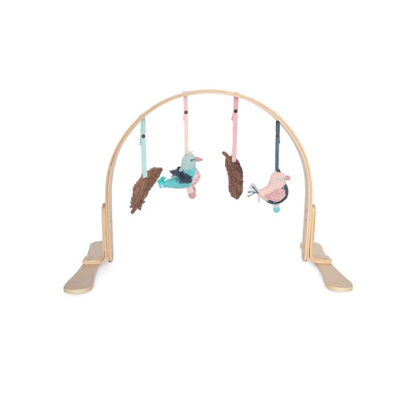 Light Wood Feather Play Gym