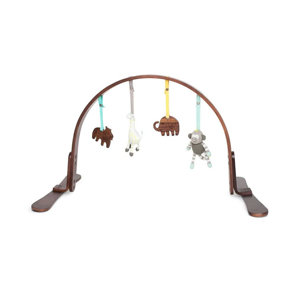 Jungle Play Gym Dark Wood