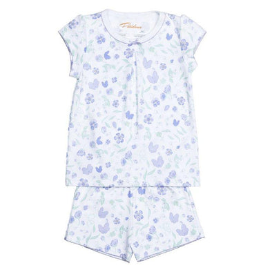 Short Sleeve Lavender Flower PJs